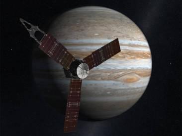 La sonde Juno devant Jupiter.
